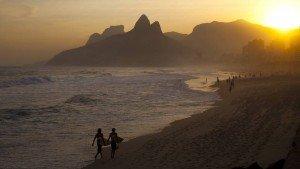 coucher de soleil à Ipanema