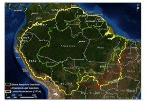 carte Amazonie