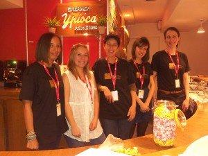 L'équipe du Festival de gauche à droite Lubna, Pauline, Marcia, Jasmin, eglantine