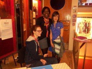 L'équipe du Festival, de gauche à droite Jeanne, Oumou et Jasmin