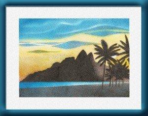 praia-de-ipanema-com-mo-rro-dois-irmaos 'plage d'Ipanema avec les collines Deux Frères)
